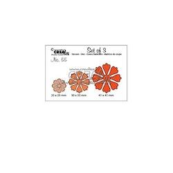 Crealies - Set cutting dies 3pcs no.55 Flowers
