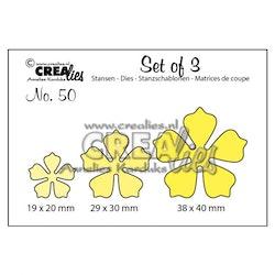 Crealies - Set cutting dies 3pcs no.50 Flowers 21