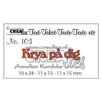 Crealies - Cutting die no.103 Krya på dig