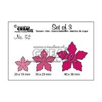 Crealies - Set cutting dies 3pcs no.52 Flowers 23