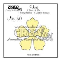 Crealies - Cutting die no.50 Flower 21