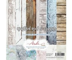 Memory Place 6x6 Paper Pad - Weathered Wood & Crystals