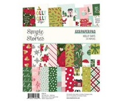 Simple Stories 6x8 Paper Pad  - Holly Days