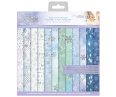 Crafter's Companion 6x6 Paper Pad - Glittering Snowflakes