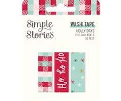 Simple Stories Washi Tape - Holly Days