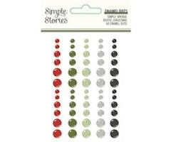Simple Stories - Simple Vintage Rustic Christmas Enamel Dots