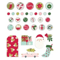 Simple Stories - Holly Days Decorative Brads
