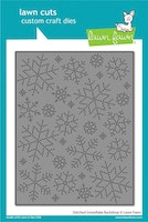 Lawn Fawn Dies - Stitched snowflake backdrop