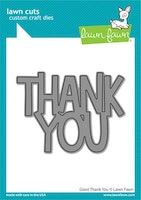 Lawn Fawn Dies - Giant thank you