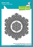 Lawn Fawn Dies  - Magic iris snowflake add-on