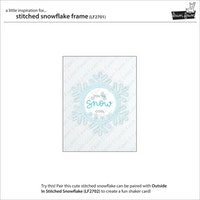 Lawn fawn Dies - Stitched snowflake frame