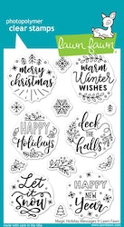 Lawn Fawn Stämpel - Magic holiday messages