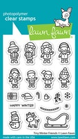 Lawn Fawn Stämplar - Tiny winter friends