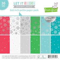 Lawn Fawn 6x6 PaperPack - Let it shine snowflakes