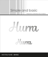 Simple and Basic - Hot Foil Plate Hurra
