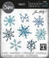 SIZZIX/TIM HOLTZ - THINLITS DIE Scribbly Snowflakes