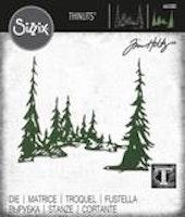 SIZZIX/TIM HOLTZ - THINLITS DIE Tall Pines