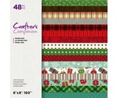Crafter's Companion 8x8 Paper Pad - Happy Holidays
