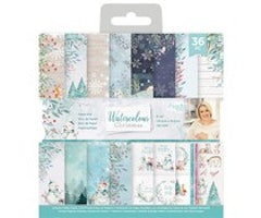 Crafter's Companion 6x6 Paper Pad -  Watercolour Christmas