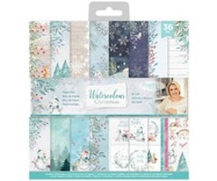 Crafter's Companion 12x12 Paper Pad - Watercolour Christmas