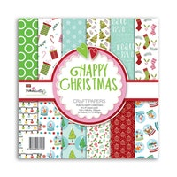 Polkadoodles - Happy Christmas 6x6  Paper Pack
