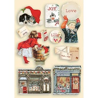 Stamperia - Colored Wooden Shapes A5 Romantic Christmas