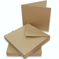 Naturfärgade kort & kuvert 6 x 6