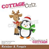 Cottage Cut -  Reindeer & Penguin