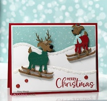 Cottage Cutz - Silly Reindeer Skiing