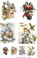 Klippark A4 Julmotiv fåglar