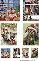 Klippark A4 Julmotiv katter