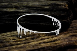 Chipboard - Frosty frame Oval