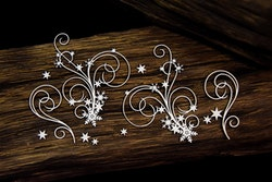 Chipboard - Snowflake decors