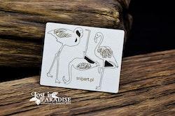 Chipboard - Flamingos