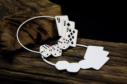 Chipboard - Layered frame Cards and dices