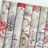 Ciao Bella Paper Pad 12x12 - Frozen Roses