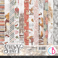 Ciao Bella Paper Pad 6x6 - Memories of A Snowy Day