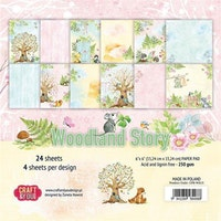 Craft & You 6x6 Paperpad - Woodland Story