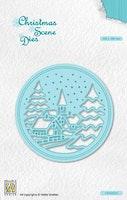 NS Christmas Scene Dies - Snowy Village