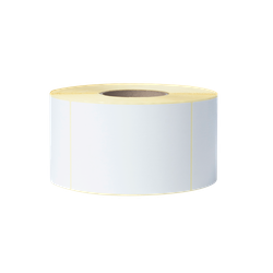 Brother BCS-1J074102-203 Etikettrulle, stansade, vita, premiumlaminerad 4-Pack