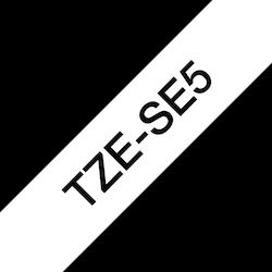 Brother original TZe-SE5 tapekassett – svart på vit, 24 mm