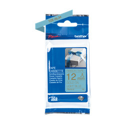 Brother TZe-RL34 satinbandskassett – guld på ljusblått, 12 mm