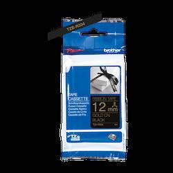 Brother TZe-R334 satinbandskassett – guld på svart, 12 mm