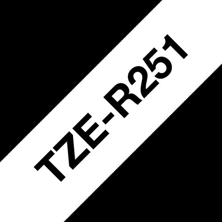Brother TZe-R251 satinbandskassett – svart på vitt, 24 mm