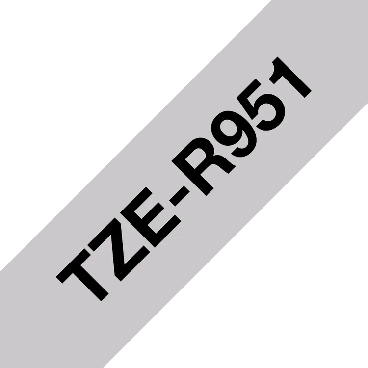 Brother TZe-R951 satinbandskassett – svart på silver, 24 mm
