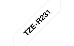 Brother TZe-R231 original satinband - svart på vitt , 12 mm