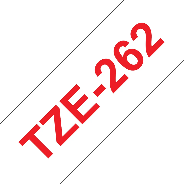 Brother TZe262 original etikettape röd på vit , 36 mm