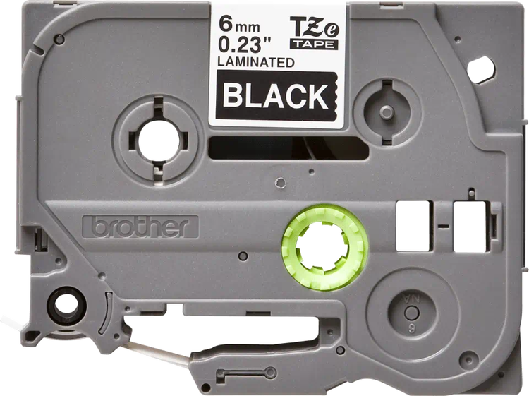 Brother TZe315 original etikettape vit på svart , 6 mm