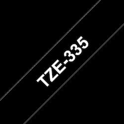 Brother TZe335 original etikettape, svart på vit, 12 mm
