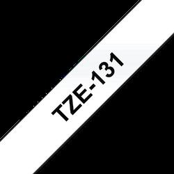 Brother TZe131 original etikettape, svart på genomskinlig, 12 mm